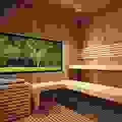 de Taller 3M Arquitectura & Construcción Ecléctico Madera Acabado en madera