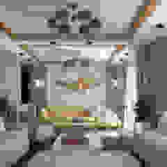 تصميم ريسيبشن بشقة في كومباوند من KOSOUR INTERIORS بحر أبيض متوسط
