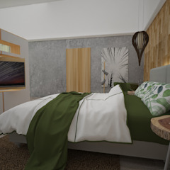 Hotel Boutique Centro Histórico Dormitorios de estilo rústico de Armo Dezain Rústico Compuestos de madera y plástico