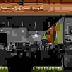카페인테리어 Vieola coffee 인더스트리얼 복도, 현관 & 계단 by im100 communications 인더스트리얼