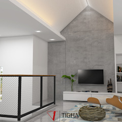 AN House Ruang Media Modern Oleh Tigha Atelier Modern