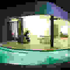 The Hexagon Villa Piscinas minimalistas por Fornature Design Minimalista