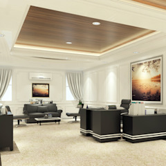 Interior Design (Wall Design) Kantor & Toko Modern Oleh PT. Leeyaqat Karya Pratama Modern Kayu Wood effect