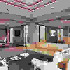İç Mekan Ofis Tasarımımız Asyatik Oturma Odası INVENT YAPI TASARIM Asyatik Ahşap-Plastik Kompozit