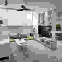 Serangoon Central Scandinavian style living room by Swish Design Works Scandinavian