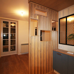 Agence ADI-HOME Built-in kitchens Wood-Plastic Composite Blue