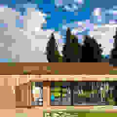 Gimnasios domésticos de estilo moderno de Ecospace Italia srl Moderno Madera Acabado en madera