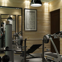 Rustic style gym by MAD Design Rustic
