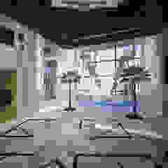 Oriental villa کرجی مدیترانه، راهرو و پله ها توسط dal design office مدیترانه ای