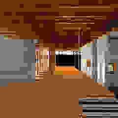 Refúgio Serrano Corredores, halls e escadas campestres por Pedro Ivo Fernandes   Arquiteto e Urbanista Campestre