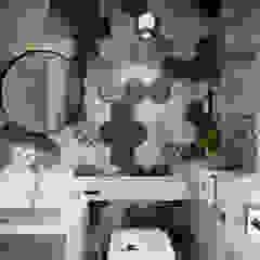 Phòng tắm phong cách Bắc Âu bởi 創喜設計 Bắc Âu Gạch ốp lát