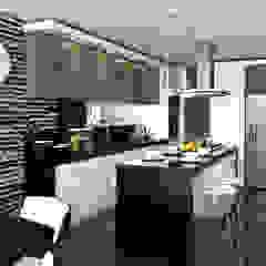 Proyecto de visualización Casa -Condominio Filadelfia (Ibagué - Tolima) Cocinas de estilo ecléctico de Taller 3M Arquitectura & Construcción Ecléctico Cerámico