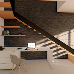 por GóMEZ arquitectos Industrial Madeira Acabamento em madeira