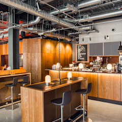 Bar Seating Modern bars & clubs by Shape London Modern