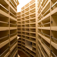 Karuizawa Counterpoint Modern wine cellar by PODA Modern Plywood
