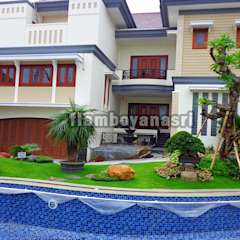 Jasa Tukang Taman Surabaya - Flamboyanasri Bangunan Kantor Gaya Mediteran Oleh Tukang Taman Surabaya - flamboyanasri Mediteran
