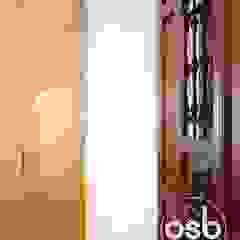 por osb arquitectos Industrial Madeira Acabamento em madeira