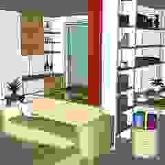 Espaçoarq Arquitetura Ltda SalasAlacenas y cajoneras Derivados de madera Multicolor