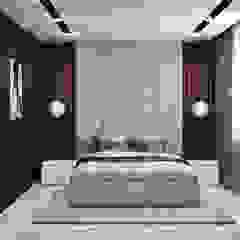 Pracownia Projektowa HybriDesign Adelina Czerbak ห้องนอน