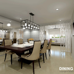 Ang Mo Kio Ave 3 Scandinavian style dining room by Swish Design Works Scandinavian