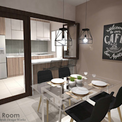 Yishun Ave 6 Scandinavian style dining room by Swish Design Works Scandinavian
