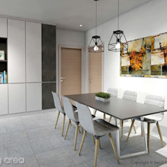 Serangoon North Ave 2 Scandinavian style dining room by Swish Design Works Scandinavian