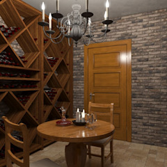 Eclectic style wine cellar by Альберт Галимов Eclectic