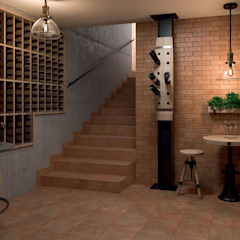 Ilario - kolekcja płytek ceramicznych Nowoczesna piwnica win od Ceramika Paradyz Nowoczesny
