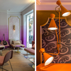 Idol Hotel, Paris Moderne Hotels von DelightFULL Modern Kupfer/Bronze/Messing