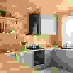 Kuchnia w drewnie z okapem VERTA 60 Wiejska kuchnia od GLOBALO MAX Wiejski
