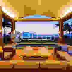Azjatycki balkon, taras i weranda od Hjapón - Inmobiliaria de lujo en Barcelona Azjatycki