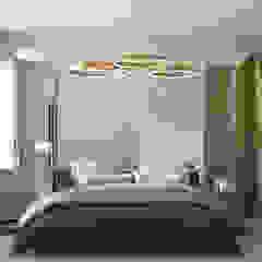 """Квартира в ЖК """"Пикассо"""" Спальня в стиле минимализм от Yurov Interiors Минимализм"""
