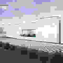 od ATELIER OPEN ® - Arquitetura e Engenharia Nowoczesny Aluminium/Cynk