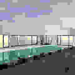 Casa da Piscina | Azeitão por ATELIER OPEN ® - Arquitetura e Engenharia Minimalista Madeira Acabamento em madeira