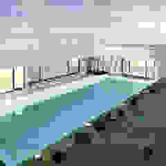 Casa da Piscina   Azeitão por ATELIER OPEN ® - Arquitetura e Engenharia Moderno Azulejo