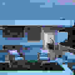 Minimalistyczny ogród zimowy od Studio17-Arquitectura Minimalistyczny