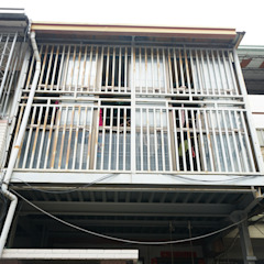 Azjatycki balkon, taras i weranda od 有隅空間規劃所 Azjatycki