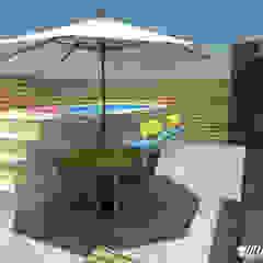 Área Gourmet - DIY por Hellen Assis - Designer de Interiores Rústico Madeira Efeito de madeira