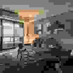 Ruang Keluarga Modern Oleh 鼎士達室內裝修企劃 Modern Parket Multicolored
