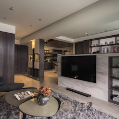 Ruang Keluarga Tropis Oleh 鼎士達室內裝修企劃 Tropis Batu Kapur