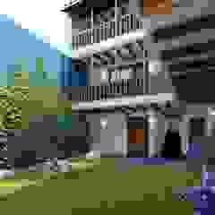 Restauración y Obra Nueva Hotel Boutique Pasillos, vestíbulos y escaleras coloniales de FRANCO CACERES / Arquitectos & Asociados Colonial