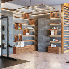 Eclectic style gym by homify Eclectic