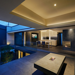 se house モダンデザインの テラス の Takeru Shoji Architects.Co.,Ltd モダン