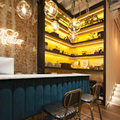 Eclectic style offices & stores by Interioristas Dimeic, diseñadores y decoradores en Madrid Eclectic