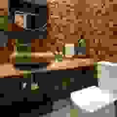Cobertura Duplex - Águas Claras Banheiros rústicos por Skaine Photo Rústico