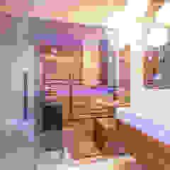 dom w Kołobrzegu Eklektyczna łazienka od Studio Projektowe Projektive Eklektyczny