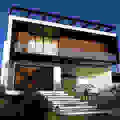 Casa Contemporânea من Gelker Ribeiro Arquitetura | Arquiteto Rio de Janeiro صناعي خشب Wood effect