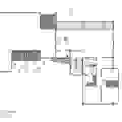 planta 2, vivienda 2:  de estilo tropical por Bsestudio, Tropical