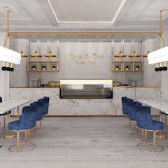 Only & One Royal Cafe Moderne bars & clubs van Deev Design Modern Marmer