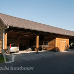 Country style garage/shed by Geldersche Houtbouw Country Wood Wood effect